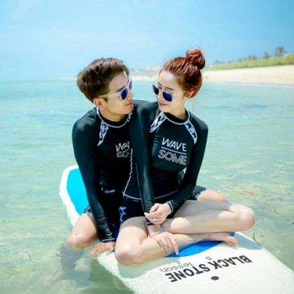 WaveSome Design Couple Swimsuits