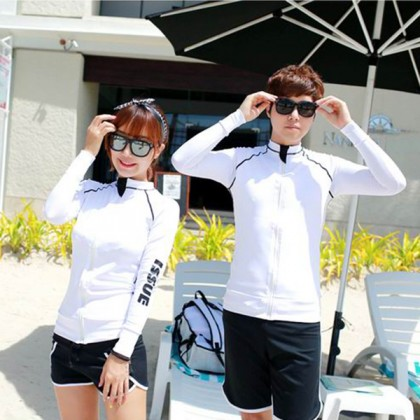 White Issue Couple Swimsuit