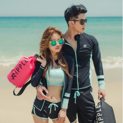 Tiffany And Black Swimsuit