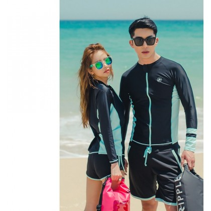 Tiffany And Black Couple Swimsuit