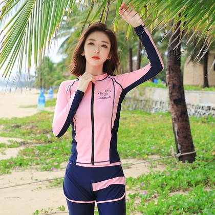 5IN1 Daisy Pink Diving Swimsuit