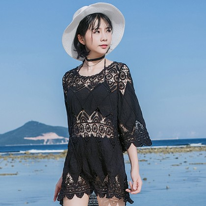 MYSTERY BLACK LACE OUTER DRESS