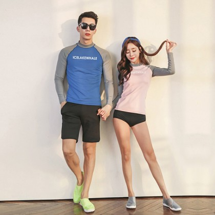 Candy Match In Summer Couple Rashguard