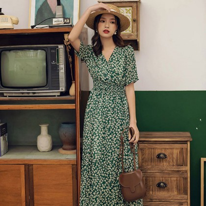 Vintage Green Beach Dress